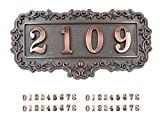 Do4U Do-It-Yourself Address Acrylic Plaque Kit,Door Number Kit ,Self-stick (4 Digit, E style)