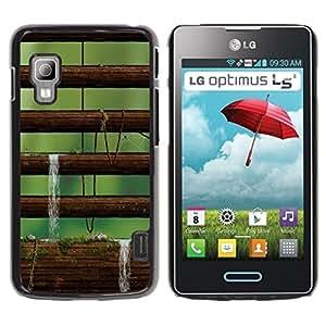 Be Good Phone Accessory // Dura Cáscara cubierta Protectora Caso Carcasa Funda de Protección para LG Optimus L5 II Dual E455 E460 // Nature Moss Tree