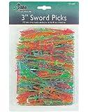 "Update International (PSP-30JP) 3"" Plastic Sword Toothpicks (Case of 500)"