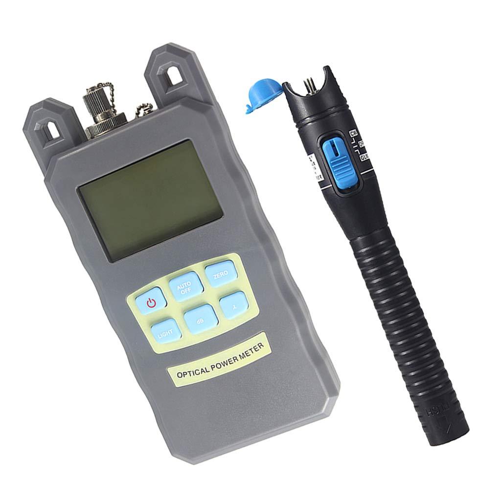 Baosity Portable DXP-20B Optical Fiber Power Meter Tester Measure -70dBm~+10dBm + 1mW 5KM Visual Fault Locator Fiber Tester Detector Meter Pen