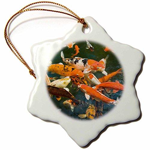 3dRose orn_71986_1 Ornament Koi, Shopping Mall, Malacca, Malaysia AS23 SWS0092 Stuart Westmorland Snowflake Porcelain Ornament, - Mall Westmorland