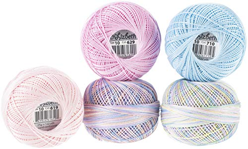 - Handy Hands Lizbeth Specialty Pack Cordonnet Cotton Size 10-spring Petals 5/pkg