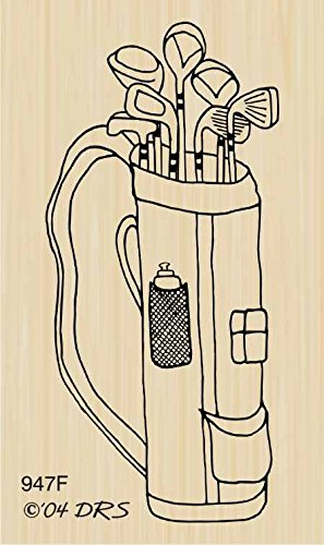 Golf Bag Rubber Stamp By DRS Designs by DRS Designs Rubber Stamps