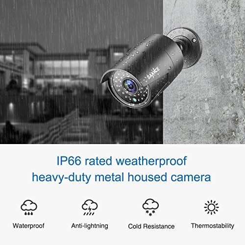 SANNCE 4 Metal Security Camera Kits 1/2.7'' 1080P(2MP) AHD Video Security Surveillance CCTV Camera with 100ft Night Vision, 3.6mm Lens Outdoor/Indoor IP66 Weatherproof(Pack of 4) by SANNCE (Image #5)