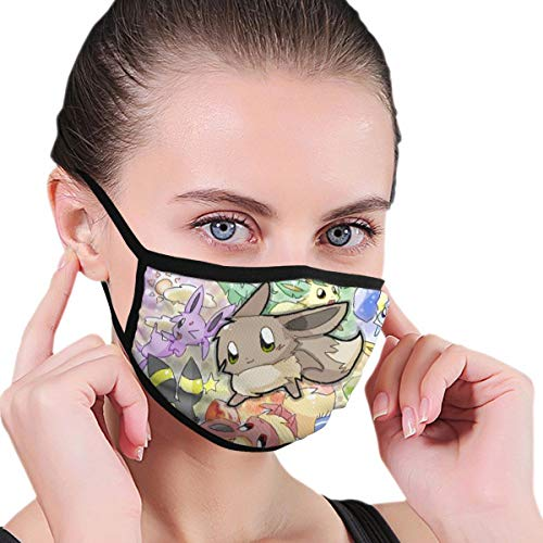 Ee-Vee Face Mouth Cover Mask Reusable Anti Dust Anti Pollution Unisex Earloop Breathing Mouth Shade Black