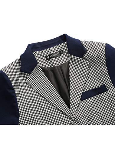Pata Marineblau Costume Slim Blazer Veste Hommes Classique Garçons De Fit Motif Casual Élégant Coq Loisirs x6TxnwqrUC