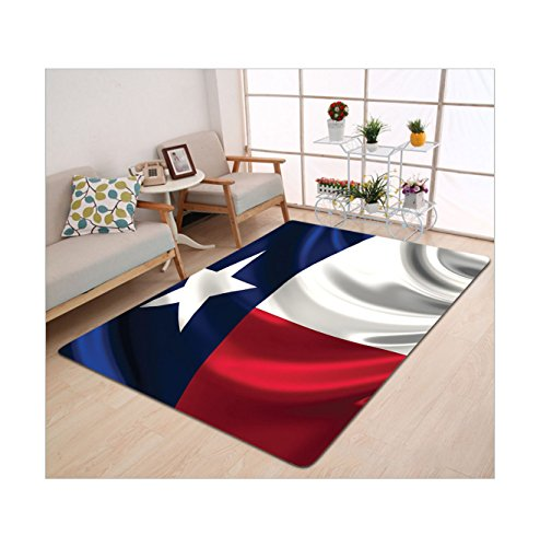 Kisscase Custom carpet American Decor Collection Flag Of Texas Lone Star Flag Stripes Anthem Nationality Pride Official (Nationality Costumes)