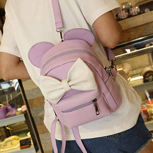 Tote Messenger Mini for Purse wuayi Backpack Shoulder Light Work Girls Crossbody Satchels Purpl Bag Travel School for Handbag Women vxqzxP0