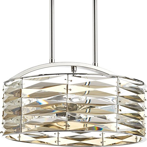 picture of Progress P5185-15 The Pointe - Five Light Round Pendant, Polished Chrome Finish with Clear K9 Crystal Glass