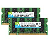 DUOMEIQI Ram 4GB Kit (2 X 2GB) DDR2 800MHz SODIMM 2RX8 PC2-6300 PC2-6400 200pin 1.8v CL6 Unbuffered Non-ECC Dual Channel Notebook Desktop Memory Module Upgrade for Intel AMD and Mac System Chips