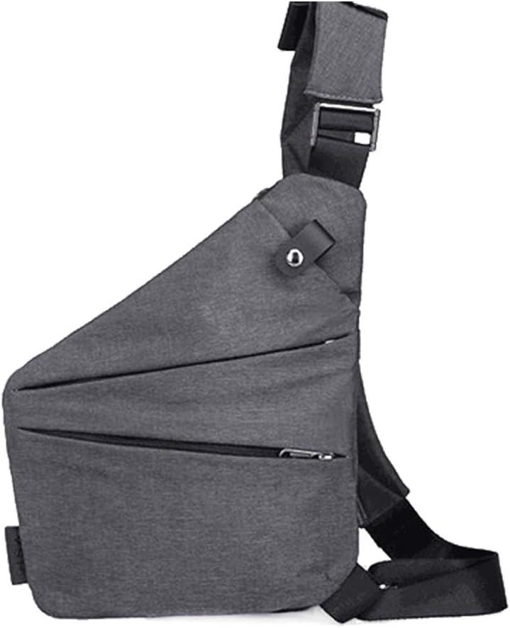 Syfinee Mens Messenger Bag Oxford Nylon Burglar Wearable Bag Multifunctional Solid Durable Outing Sac Messager Oxford Cambrioleur Sac pour Homme Solide Multifonctionnel Durable Sortie Gris 30x25x2cm