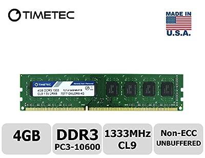 Timetec Hynix IC DDR3 1333MHz PC3-10600 Unbuffered Non-ECC 1.5V CL9 2Rx8 Dual Rank 240 Pin UDIMM Desktop Memory Ram Module Upgrade
