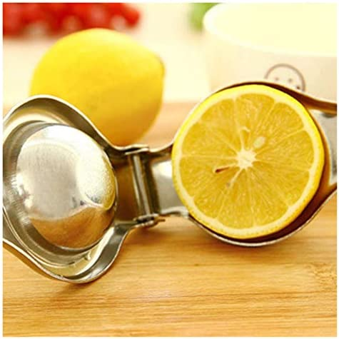 DANYIN Inicio exprimidor del limón Mini Acero Inoxidable Manual exprimidor del limón Robusto for Can limón apretón, sandía, Naranja, Manzana, 2 Piezas