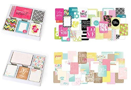 Project Life Core Kit 2 Pack - 1,232 Total Journal Cards for Scrapbook Album, Scrapbooking Projects, Journaling Cards