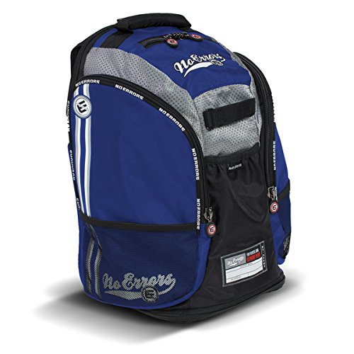 NoErrors Scout Sports Backpack - Dual Side Compartments - Bat Compartment - Includes Smartphone/MP3 Player Storage - Perfect for Baseball, Softball, Basketball and (Players Bat Packs)