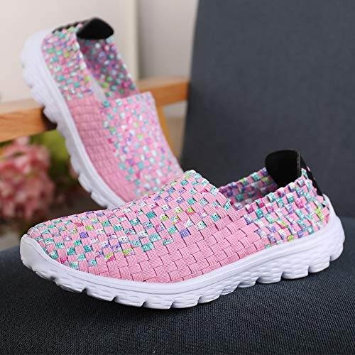 Costura Damas Plana de Toe de Playa Chancletas de Zapatos Negro Plana de cómodas de Plataforma 35 Zapatillas Rosa Moda Verano Sandalias Zapatos 41 y Zapatos Sandalias Cerrojo Sandalias Peep wEIqXR6xaI
