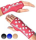 Wrist Support Sleeves by SPARTHOS (Pair) – Medical Compression for Carpal Tunnel and Wrist Pain Relief – Wrist Brace for Men and Women – Made from Innovative Breathable Elastic Blend