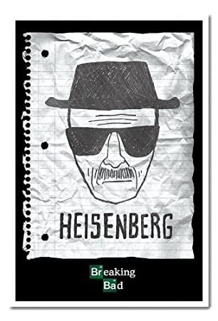 Breaking Bad Heisenberg Wanted Poster White Framed - 96.5 x 66 cms ...