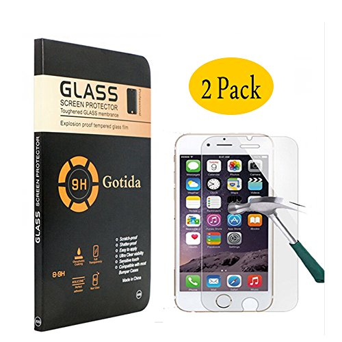 iPhone 7 Screen Protector,2 Pack Tempered Glass Screen Protector For iPhone 7,Gotida iPhone 7 Screen Protector Film Case for iPhone 7