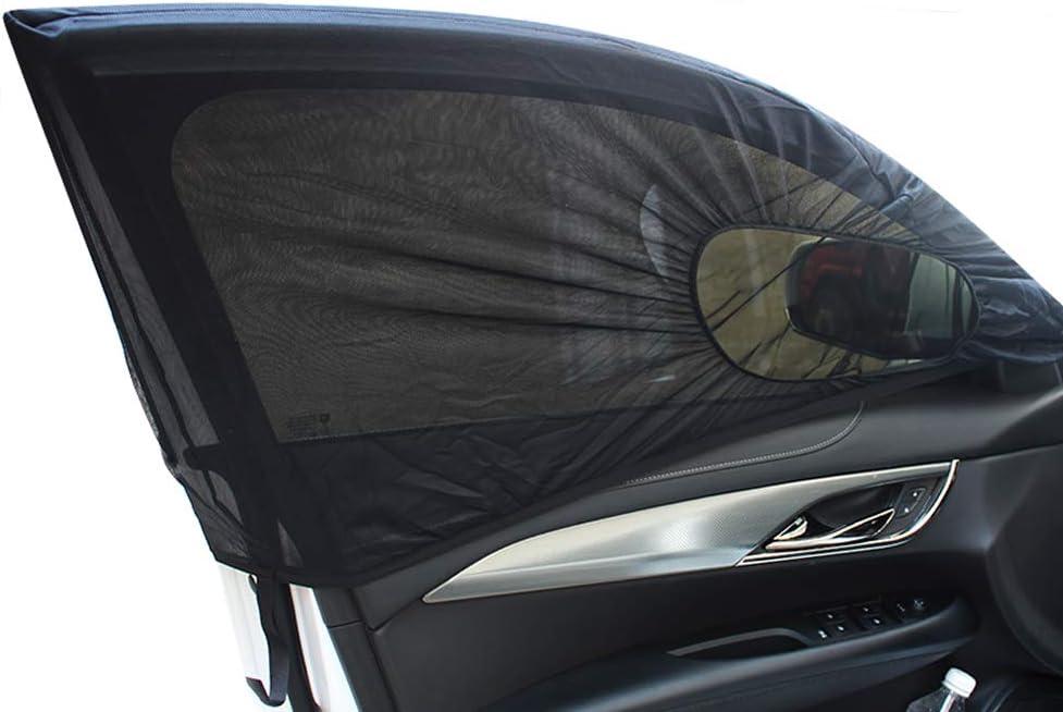 Couverture Moustiquaire de Moustiquaire de Voiture Universelle pour Windows KKmoon 2pcs Pare-Soleil de Fen/être de Voiture Fen/être arri/ère Pare-Soleil de Fen/être Lat/érale Avant Anti-UV