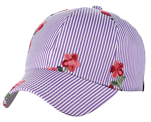 Embroidered Print Hat - 9