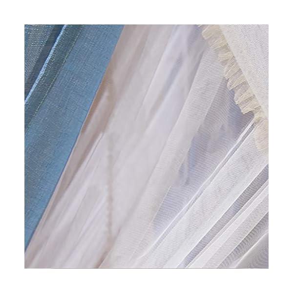 2 in 1 tessuto di tela staccabile zanzariera, 1.5m / 1.8m / 2m letto manto di crittografia delle famiglie Pavimento… 5 spesavip