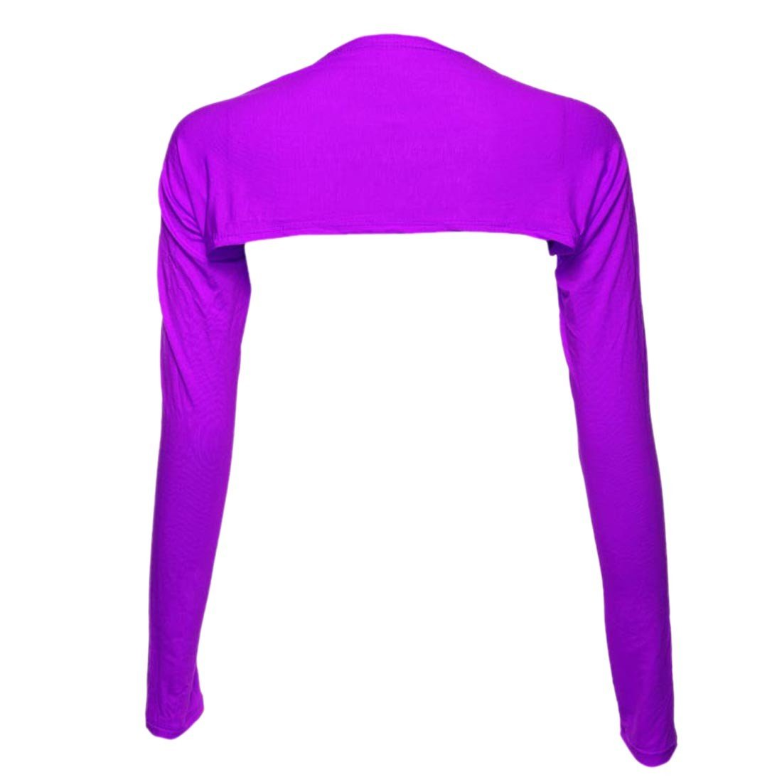 Paixpays Womens Long Sleeve Bolero Shrug Muslim Arm Cover One Piece Shawl E9099S0246