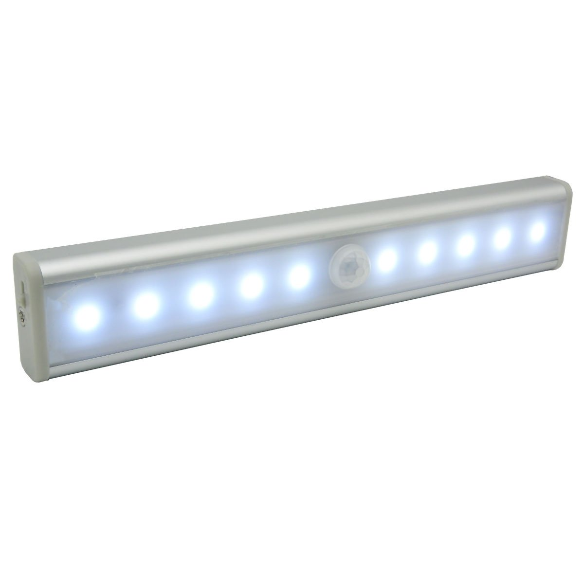 LED Under Cabinet Light Wireless Motion & Light Sensor 10 LED Wardrobe Lamp Bar - Rechargeable