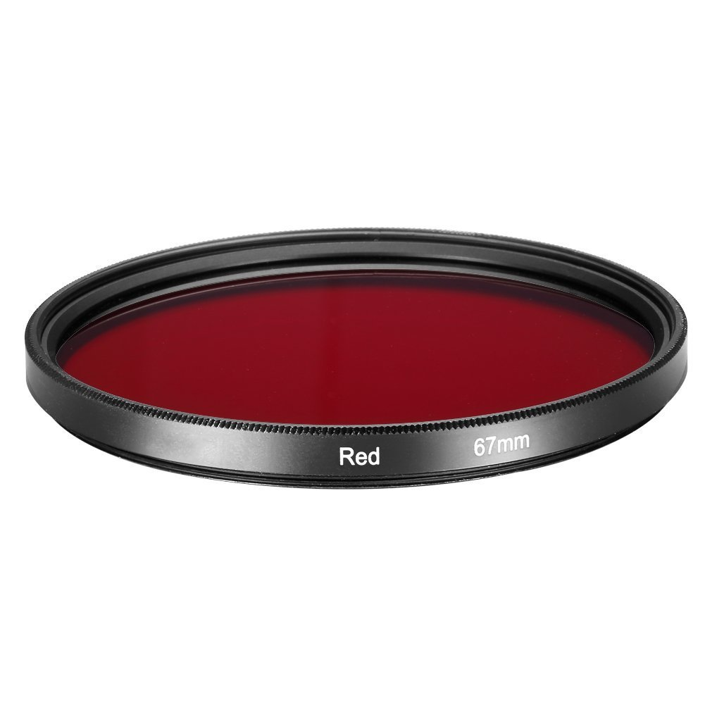 SODIAL(R) 67 mm full red filter, 67 mm filter threaded camera lens 062599