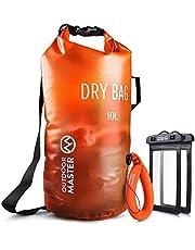 OutdoorMaster Dry Bag- 5L/10L/20L Stylisher Leichter Trockensack mit 2 freie Wasserdichte Handybeutel & Float Handschlauf- Wasserdichte Tasche für Schwimmen, Bootfahren, Angeln & Snowboarden