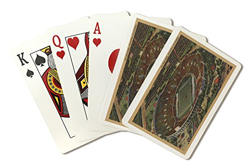 (Pasadena, California - The Rose Bowl Stadium from Air (Playing Card Deck - 52 Card Poker Size with Jokers))
