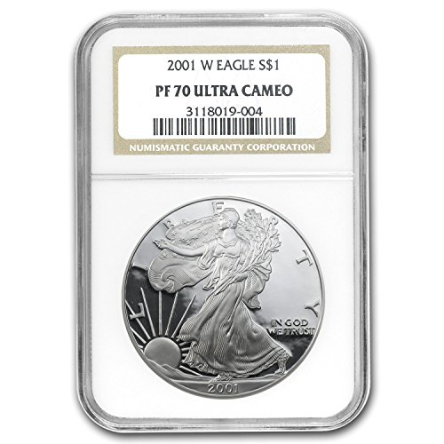 2001 W Proof Silver American Eagle PF-70 NGC Silver PR-70 NGC