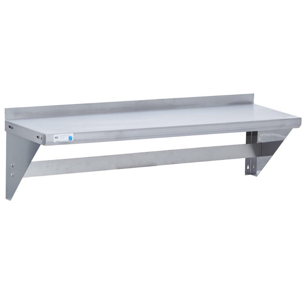 Fenix Sol Commercial Kitchen Stainless Steel Pot Rack, 16'' W x 48''L, NSF Certified