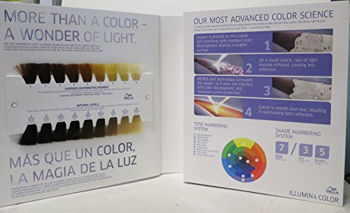Wella Professionals Illumina Hair Color Swatch Book Binder Media ...