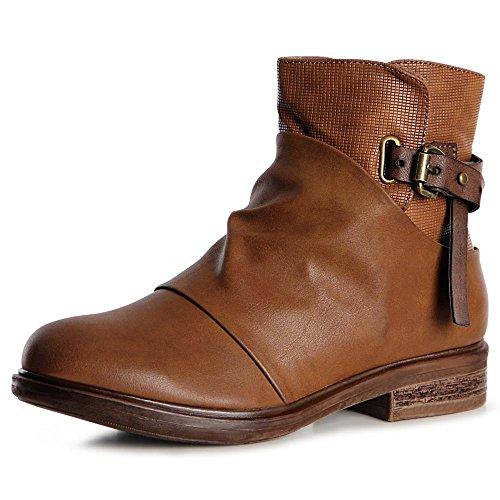 claro topschuhe24 marrón Botas para mujer zUwpRqIU
