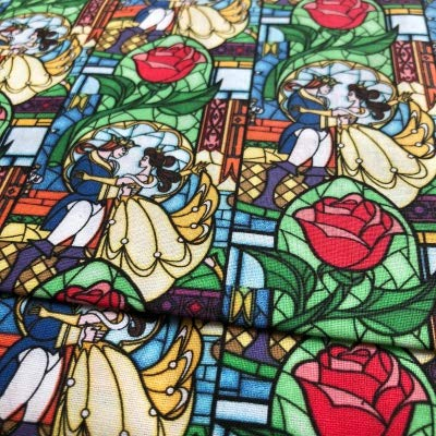 Beauty And The Beast Fabric Upholstery Craft Panel With Larger Fabric Area