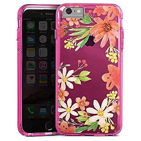 Apple Iphone 8 Plus Bumper Custodia Bumper Case Custodia Fiore Senza