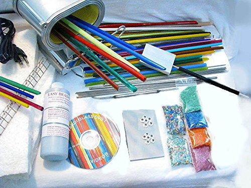 Devardi Glass Lampwork, Starter Kit w/Propane/Oxygen (Glass Beadmaking Kits)