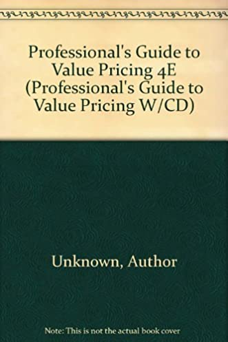 professional s guide to value pricing 4e fourth edition rh amazon com Cake Servings and Pricing Window Cleaning Pricing Guide