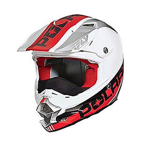 OEM Polaris Fly F2 Carbon Fiber Helmet Breath Deflector Quick Snap Liner XS-5XL - White/Red - XXX-Large (Polaris Atv Helmet)