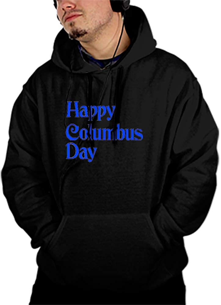BDZC Mens Pullover Hoodies Casual Columbus Day Clip Sports Outwear Sweatshirts