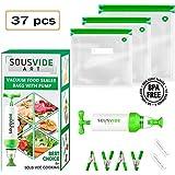 Sous Vide Bags 30 Reusable Vacuum Food Storage Bags Sous Vide Bag Kit 3 Sizes BPA Free (Premium)