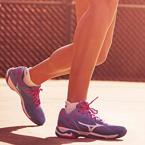 Exceed Mizuno Wave AC Blau Damen Tennisschuhe Tour 44x5wqr