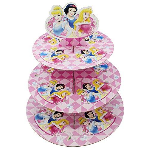 Betop House 3-Tire Princess Snow White Cinderella Aurora Themed Party Cupcake Dessert Stand