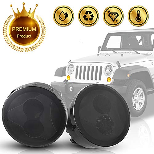 (Amber Turn Signal LED Light with Smoked Lens for 2007~2017 Jeep Wrangler JK Turn Lamp Fender Flares Front Indicator LED Lights for Off-Road 4x4 Pack of 2)