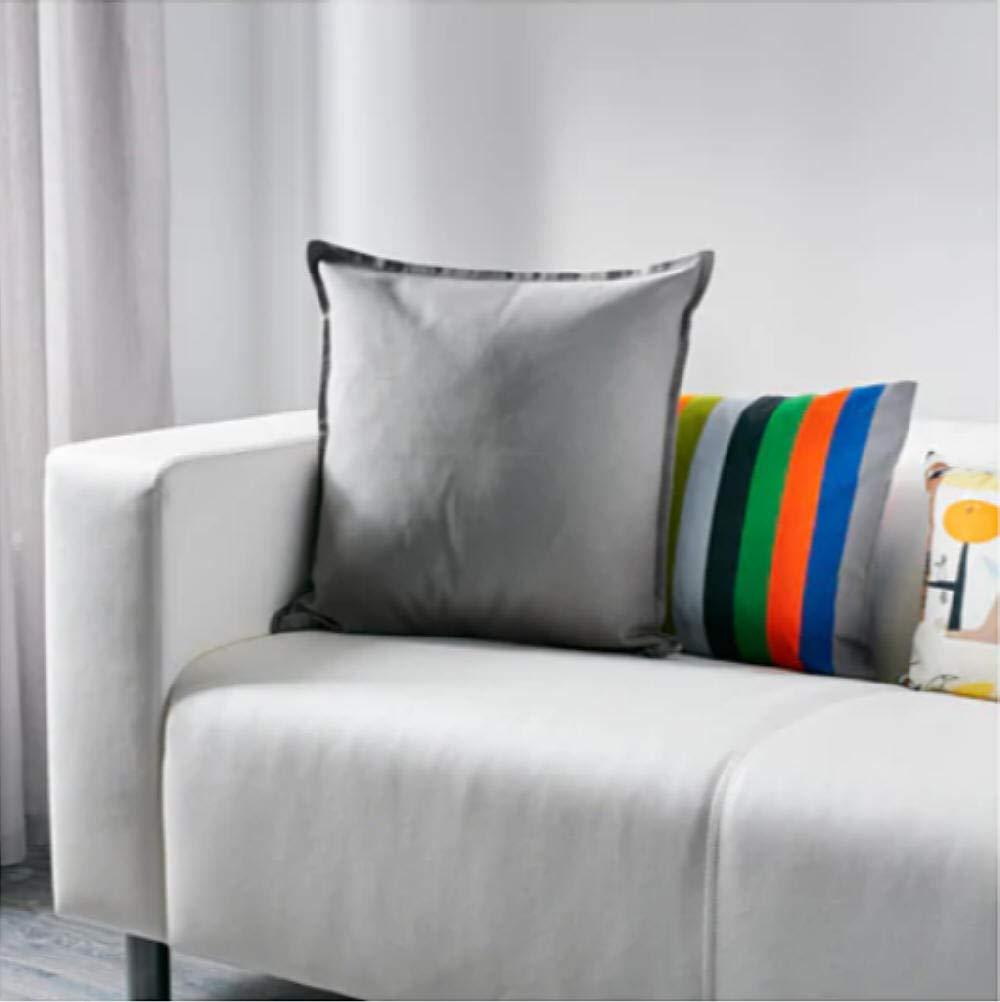 IKEA Gurli – Funda de cojín, gris – 50 x 50 cm, Pack de 2