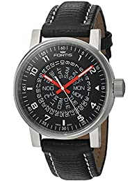 Fortis Watch Men's 623.10.51 L.01 Spacematic Classic Black-Red Analog Display Automatic Self Wind Black Watch
