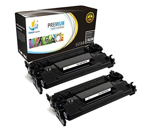 Catch Supplies CF287A 87A 2 Pack Black Premium Replacemen...