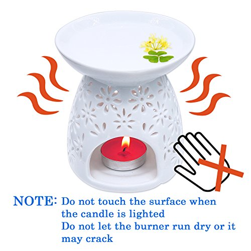 Ivenf Ceramic Tea Light Holder Aromatherapy Essential Oil