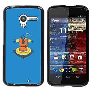 // PHONE CASE GIFT // Duro Estuche protector PC Cáscara Plástico Carcasa Funda Hard Protective Case for Motorola Moto X 1 1st GEN I / No esta vez ancla /